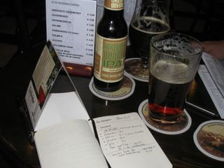 Using the Moleskine to document the time I flew to Amsterdam to drink beer from Colorado.